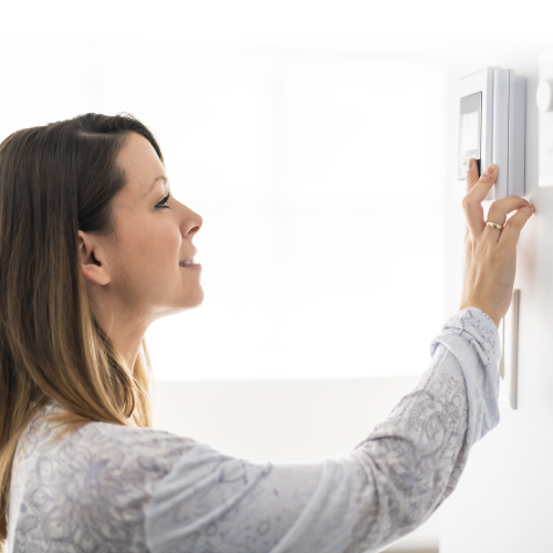 Lower your thermostat when you are away or asleep