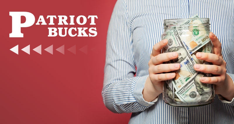 saving money with patriot bucks
